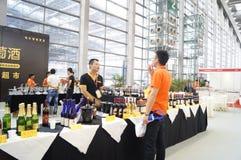 Equipo del hotel internacional de Shenzhen y exposición de las fuentes, en China Imagen de archivo libre de regalías