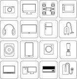 Equipo del icono electrónico Imagenes de archivo
