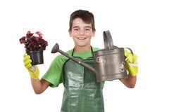 Equipo del jardinero Fotografía de archivo libre de regalías