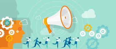 Equipo del márketing de la dirección de la dirección del negocio ilustración del vector