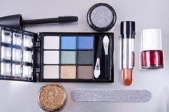 Equipo del maquillaje Fotografía de archivo libre de regalías