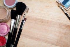 equipo del maquillaje Fotos de archivo