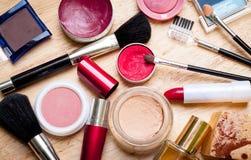 equipo del maquillaje Foto de archivo