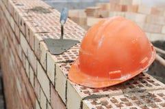 Equipo del masón de la construcción Fotografía de archivo libre de regalías