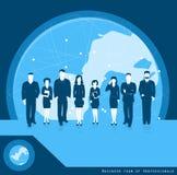 Equipo del negocio de concepto del negocio de los profesionales por todo el mundo Vec Imagenes de archivo