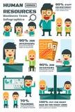 Equipo del negocio de los recursos humanos stock de ilustración