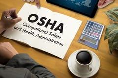 Equipo del negocio del OSHA de la Occupational Safety and Health Administration Imagenes de archivo