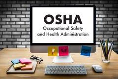 Equipo del negocio del OSHA de la Occupational Safety and Health Administration Fotografía de archivo libre de regalías