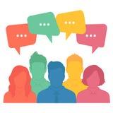 Equipo del negocio, diálogo de la charla libre illustration