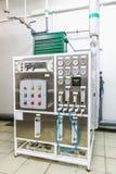 Equipo del panel de control en industria farmacéutica Foto de archivo