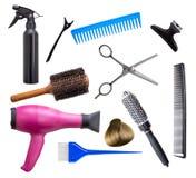 Equipo del peluquero fotos de archivo libres de regalías