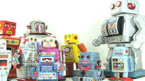 Equipo del robot almacen de metraje de vídeo