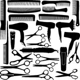 Equipo del salón del peluquero (peluquería) stock de ilustración