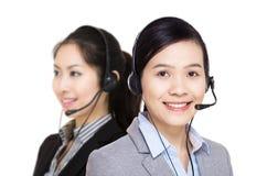 Equipo del servicio de atención al cliente de Asia Imágenes de archivo libres de regalías