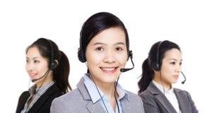 Equipo del servicio de atención al cliente de Asia Foto de archivo
