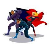 Equipo del super héroe Fotografía de archivo