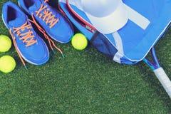 Equipo del tenis Fotos de archivo