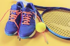 Equipo del tenis Foto de archivo