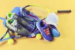 Equipo del tenis Fotografía de archivo