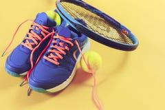 Equipo del tenis Imágenes de archivo libres de regalías