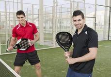 Equipo del tenis de la paleta Fotografía de archivo libre de regalías