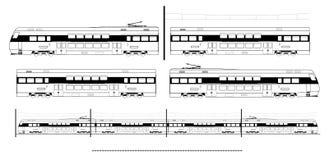 Equipo del tren del transporte de la ciudad Imagenes de archivo