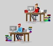 Equipo detallado vector del negocio corporativo del carácter Imagen de archivo
