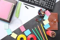 Equipo educativo y negocio de la creatividad de la visión superior en el de fotos de archivo libres de regalías