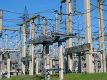 Equipo eléctrico de alto voltaje del alambre del convertidor Foto de archivo libre de regalías