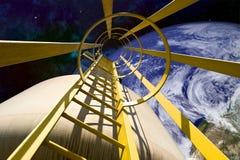Equipo en espacio exterior Fotos de archivo libres de regalías