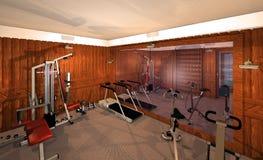 Equipo en gimnasio moderno Imagen de archivo
