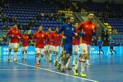 Equipo España de los jugadores Fotos de archivo libres de regalías