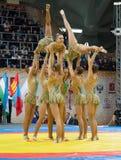 Equipo estético de la gimnasia nacional rusa Imágenes de archivo libres de regalías