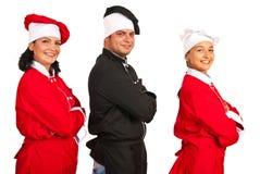 Equipo feliz de cocineros Imagen de archivo libre de regalías