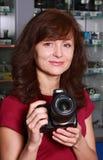 Equipo fotográfico del vendedor Imagen de archivo libre de regalías