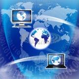Equipo global de la tecnología Fotografía de archivo libre de regalías