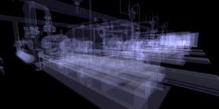Equipo industrial. La radiografía rinde Imágenes de archivo libres de regalías