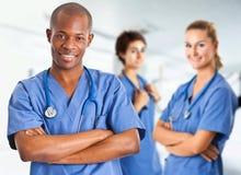 Equipo médico étnico multi Imagen de archivo