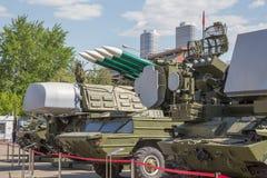 Equipo militar el VDNKh Imagen de archivo libre de regalías