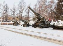 Equipo militar Krasnoyarsk, Victory Square Imagen de archivo libre de regalías