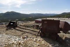 Equipo minero oxidado, Folldal Foto de archivo