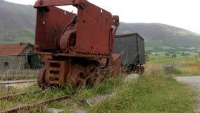 Equipo minero oxidado viejo metrajes