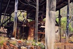 Equipo minero viejo Imágenes de archivo libres de regalías