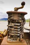 Equipo minero viejo en el Yukón, Canadá foto de archivo libre de regalías