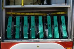 Equipo moderno del coche de bomberos Imagenes de archivo