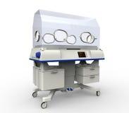 Equipo moderno del hospital de la incubadora del bebé Imágenes de archivo libres de regalías