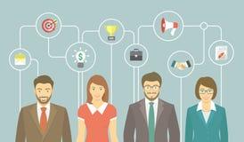 Equipo moderno del negocio stock de ilustración