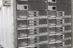 Equipo montado estante Imágenes de archivo libres de regalías
