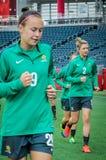 Equipo nacional de Australia Mundial de la FIFA Women's Imagenes de archivo