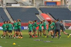 Equipo nacional de Australia Mundial de la FIFA Women's Foto de archivo